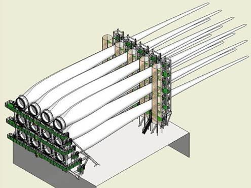 Arrangement of Blade Structure for Siemens B75 Wind Turbine Blades_Copyright OSK-Offshore